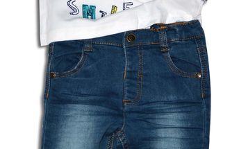 Minoti Chlapecký set - riflové kalhoty a tričko SURF 3- modro-bílý