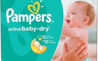 Pampers Active Baby-dry 4 Maxi, 132 ks (7-14 kg) - jednorázové pleny