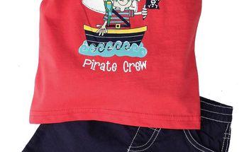 Gelati Chlapecký komplet s tričkem a šortkami - červená, modrá