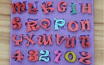 Forma na výrobu ozdob - motiv abecedy a čísel