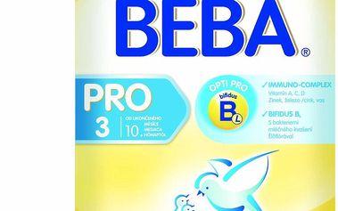 BEBA kojenecké mléko PRO 3, 2x300g