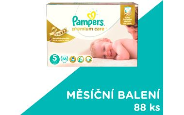 Pampers Premium Care 5 Junior 88 ks (11-18kg) MEGA Box, MĚSÍČNÍ ZÁSOBA - jednorázové pleny