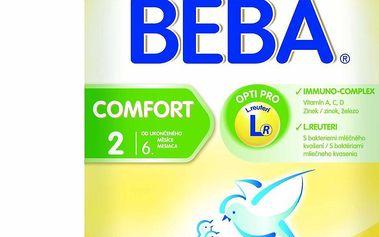 BEBA kojenecké mléko COMFORT 2, 6x600g
