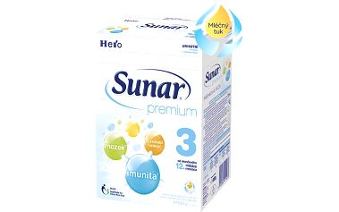 Sunar kojenecké mléko Premium 3, 8x600g