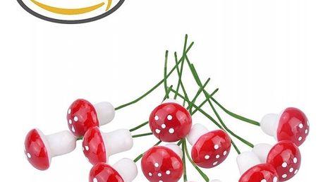Sada dekorativních muchomůrek - 10 kusů