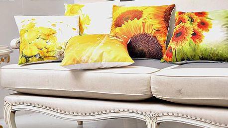 Povlak na polštář se slunečnicemi - dodání do 2 dnů