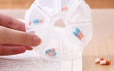 Krabička na léky - 8 přihrádek - dodání do 2 dnů