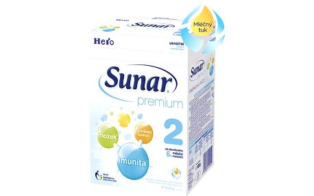 Sunar kojenecké mléko Premium 2, 8x600g