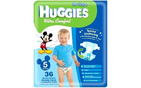 Huggies Ultra Comfort Jumbo Boy 5, 36 ks - jednorázové pleny