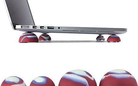 Silikonové míčky na chlazení notebooku