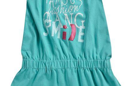 Blue Seven Dívčí šaty Famous - zelenomodré