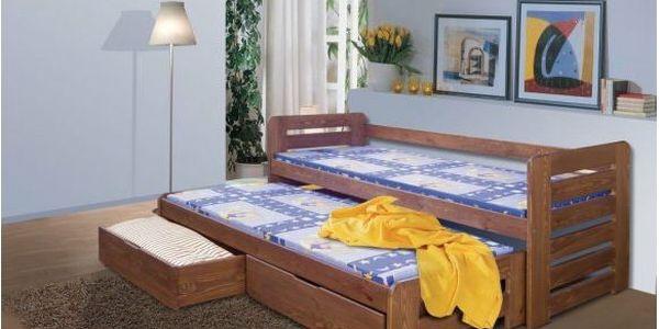 Dětská postel s přistýlkou TOMÁŠ dub