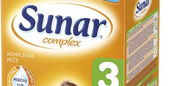 Sunar kojenecké mléko Complex 3 vanilka, 6x600g