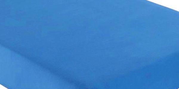 Italské prostěradlo s gumičkou 100% bavlna středně modrá v.30cm Velikost: 180x200, výška až 30cm