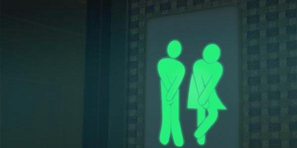 Samolepka na toaletu - svítí ve tmě