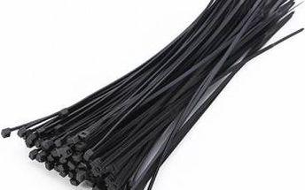 Stahovací pásky - 1000 kusů černá, bílá