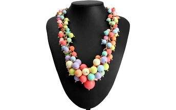 Vícevrstvý náhrdelník s kuličkami