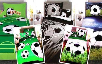 3-dílné bavlněné povlečení s motivy fotbalu. Pořiďte fotbalovému fanouškovi kvalitní fotbalové bavlněné povlečení, aby se mu krásně usínalo a zdály se mu sny o těch nejkrásnějších gólech. Vybírat si můžete z různých vzorů povlečení s fotbalem. Osobní odbě