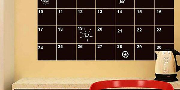 Nalepovací tabule na zeď - měsíční kalendář