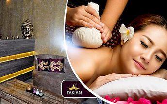 60min. thajská olejová masáž Vitality pro uvolnění a regeneraci těla i mysli