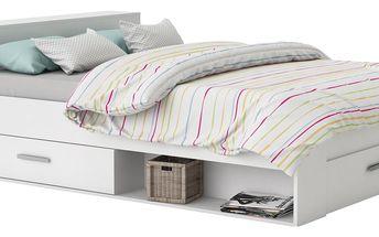Multifunkční postel POCKET 140 x 200 159574 bílá