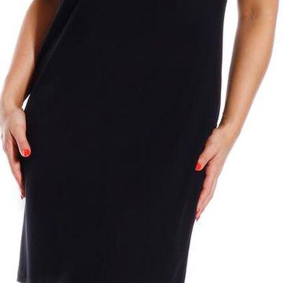 KARLA - šaty 100 cm černá XL