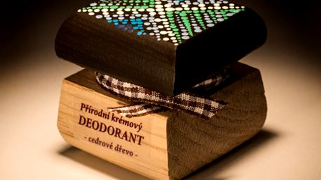 Přírodní krémový deodorant Cedrové dřevo