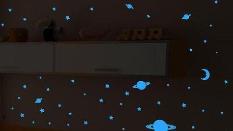 Samolepka svítící ve tmě Ambiance Universe