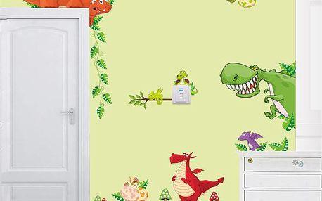 Samolepka na zeď - parta dinosaurů