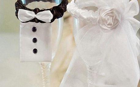 Svatební ozdoby na skleničky