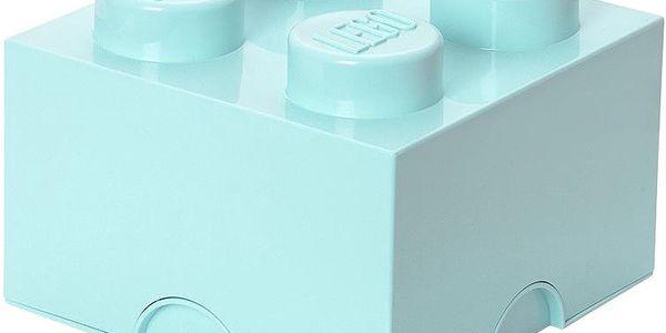 Úložná kostka LEGO, aqua