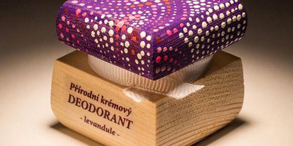 Přírodní krémový deodorant Levandule