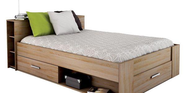 Multifunkční postel POCKET 140 x 200 159571 dub