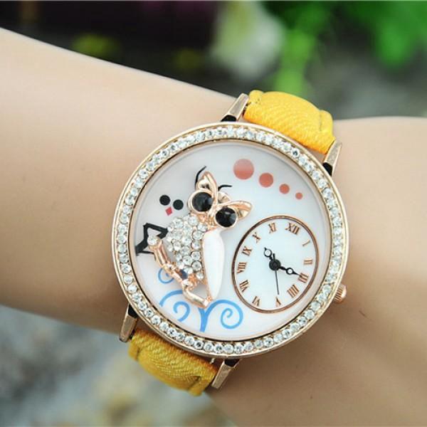 Dámské hodinky s 3D sovičkou