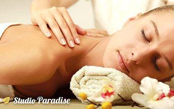 Hodinová aromaterapeutická masáž ramen, zad, šíje i nohou ve studiu Paradise v Ostravě