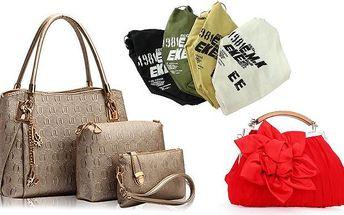 Dámské kabelky v různých modelech a barevných variantách