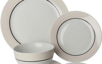 Set nádobí Oslo Cream, 12 ks