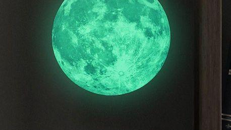 Samolepka svítící ve tmě Ambiance Real Moon, 30 cm