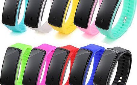 Plastové hodinky s obdélníkovým ciferníkem - mnoho barev