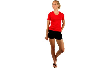 Tričko s výstřihem do véčka červená