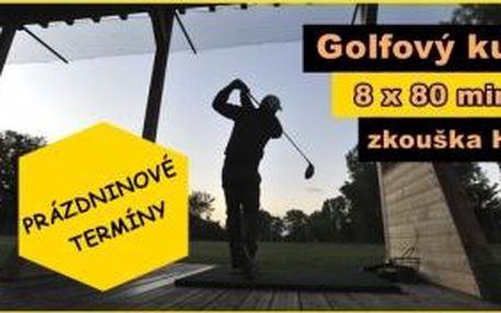 Prázdninový golfový kurz v Praze na Císařské louce s velezkušenými golfovými profesionály s licencí PGA - 8x 80min + závěrečná zkouška na HCP54. Termíny lekcí dle potřeby...