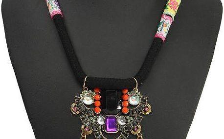 Dámský barevný vintage náhrdelník