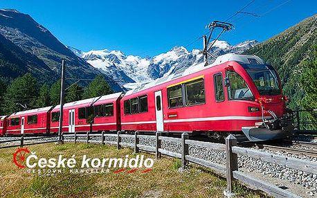 4denní poznávací zájezd Švýcarsko, Lichtenštejnsko, panoramatický vlak UNESCO