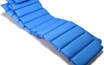 Sada 2x polstrování na lehátko Garthen - modrá