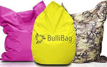 Kvalitní sedací pytle značky BulliBag, poštovné zdarma