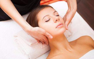 Profesionální lymfatická masáž obličeje s maskou