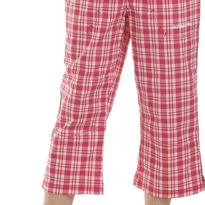 ALPINE PRO Dívčí kostkované kalhoty Sicasa - červeno-bílé
