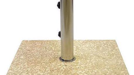 Stojan na slunečník z mramoru a ušlechtilé oceli, čtvercový, 25 kg
