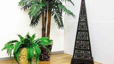 Komoda - skříňka ve tvaru pyramidy 100 cm černá