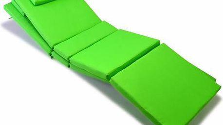 Sada 2x polstrování na lehátko Garth - zelená
